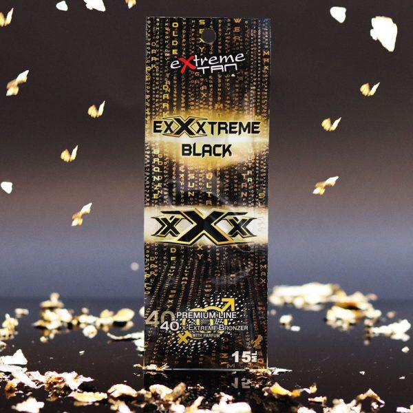 Saszetka kosmetyku do opalania na solarium marki Extreme Tan, produkt ExXxtreme Black 12ml